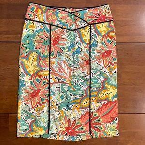 Nanette Lenore print pencil skirt -size 0 EUC